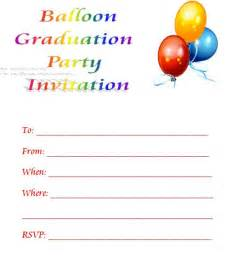 balloon printable graduation invitations