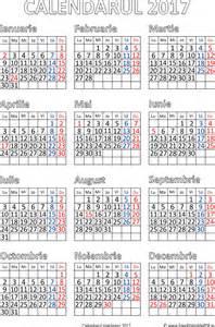 Calendar 2018 Limba Romana Calendar 2017 Limba Romana Calendar Template 2017