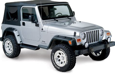 Jeep Wrangler Tj Fenders Bushwacker 10917 07 4 190 Quot Pocket Style Fender Flares For 97