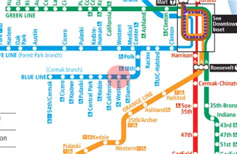 orange line map chicago western station map chicago cta l