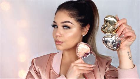 too faced love light highlighter swatches new too faced love light highlighters review first