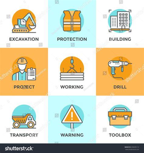 elements design renovations inc line icons set flat design elements stock vector 298285112