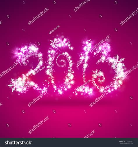 Happy New Year Photo Card Templates by Happy New Year 2013 Greeting Card Template Stock Photo