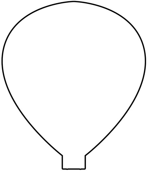 air balloon template printable balloon template pictures to pin on pinsdaddy