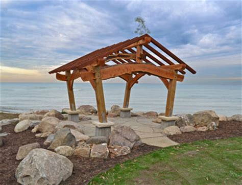 House Plans With Porches Japanese Style Timber Frame Pavilion On Lake Erie David