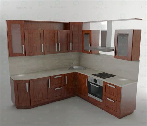 kitchen models 3d model kitchen set