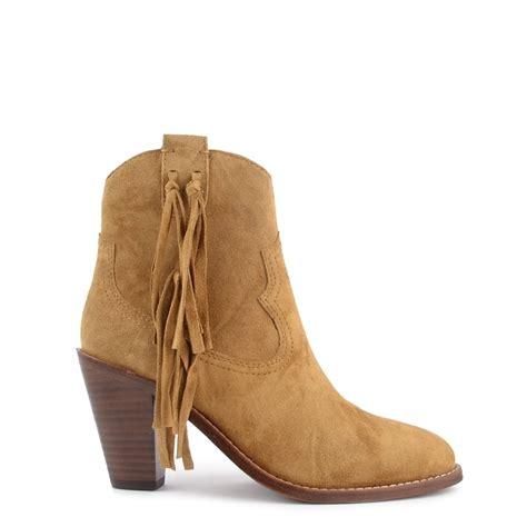 ash stella camel suede tassel ankle boot