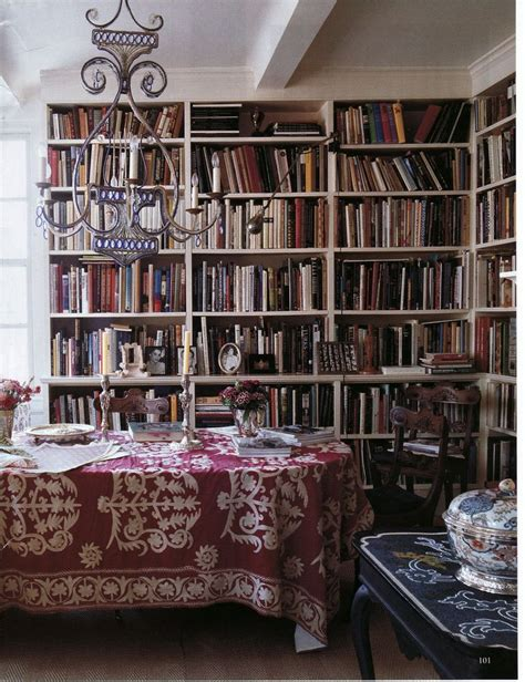 Library Style Dining Room Boho Library Chic Dining Room Of Textile Designer Carolina