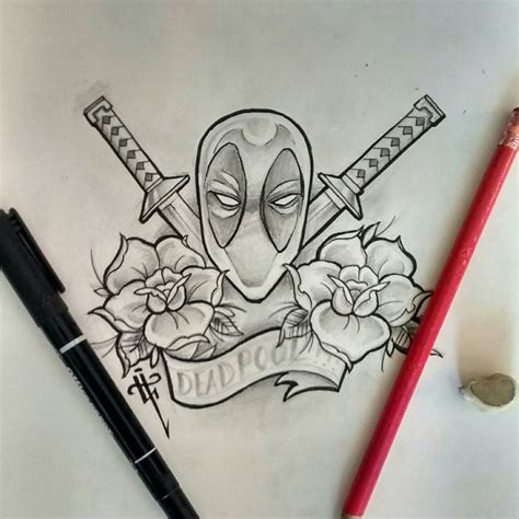 deadpool tattoo deadpool tattoos deadpool sketch