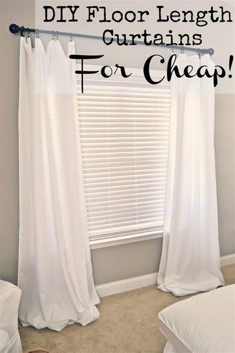 homemade curtains diy floor length curtains