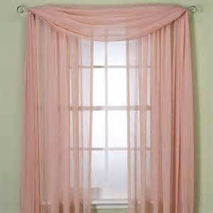 how to drape a scarf valance crushed voile sheer 84 rod pocket window curtain panel