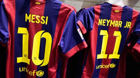 barcelona number barcelona squad kit numbers released for uefa chions