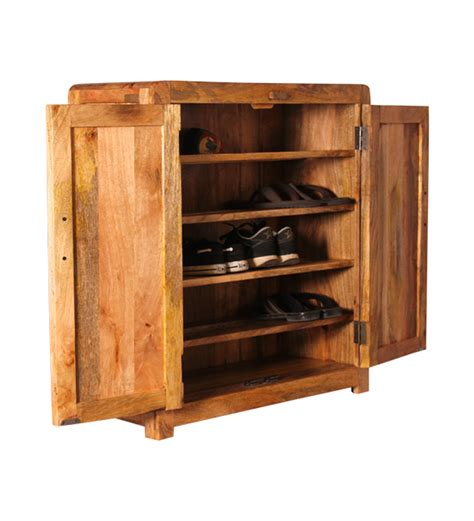 cayenne wooden shoe rack with shelves by mudramark