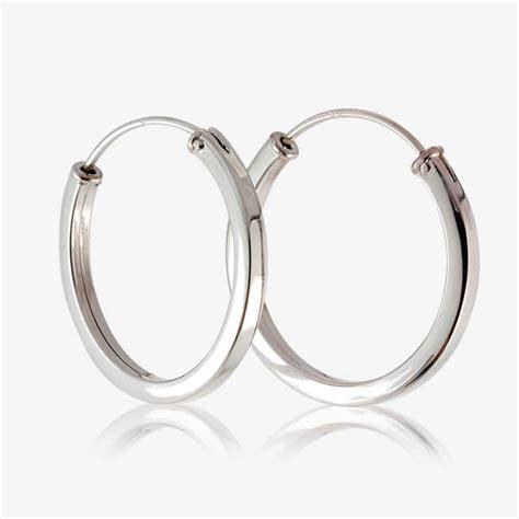 Sterling Silver Hoop Earring sterling silver square hoop earrings