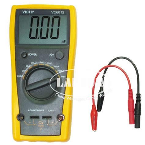 capacitor test with digital multimeter lcd capacitor capacitance meter tester digital multimeter 200pf to 20mf vc6013 ebay