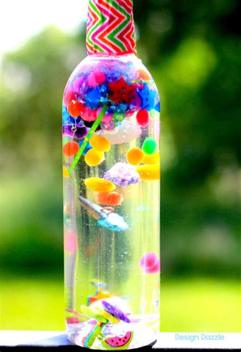 water bottle crafts for i water sensory bottle by design dazzle skip to my lou