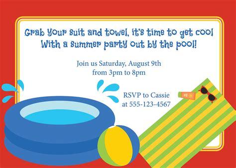 pool party birthday invitation wording ajordanscart