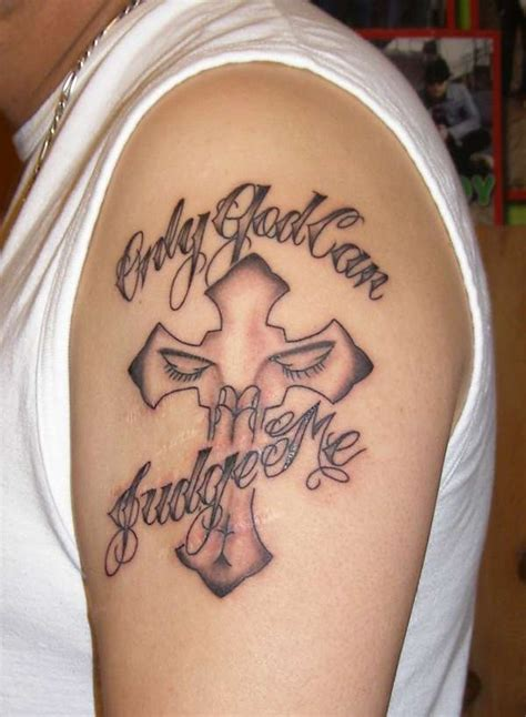 only god can judge me tattoo with cross only god can judge me with cross collection
