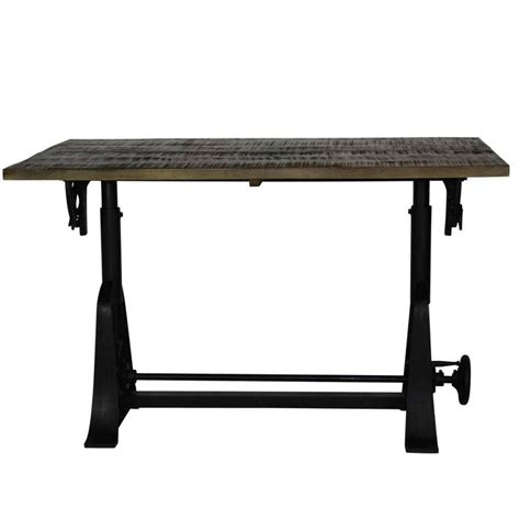 Ergonomic Drafting Table Industrial Style Drafting Table With Adjustable Height And Tilt At 1stdibs