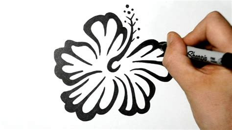 tribal hibiscus flower tattoo designs how to draw an hawaiian flower tribal design