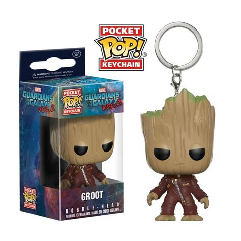 Funko Pop Guadian Of The Galaxy 2 Groot funko pocket pop keychain marvel guardians of the galaxy vol 2 groot jusgift
