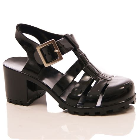 block heel gladiator sandals jelly rubber sandals block heel gladiator