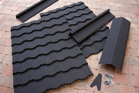 Shed Roofing Sheets by Corotile Lightweight Metal Roofing Sheet Charcoal