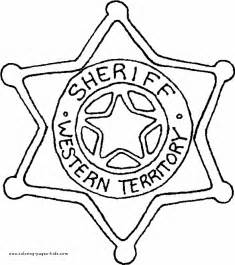 badge coloring page sheriff coloring page sheriff