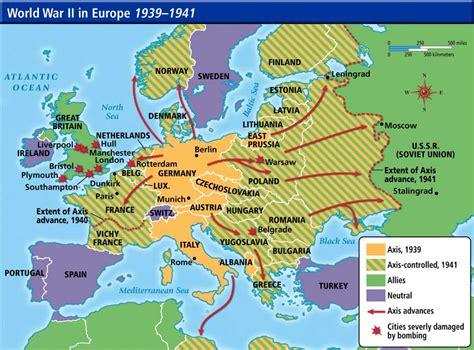 world war ii map