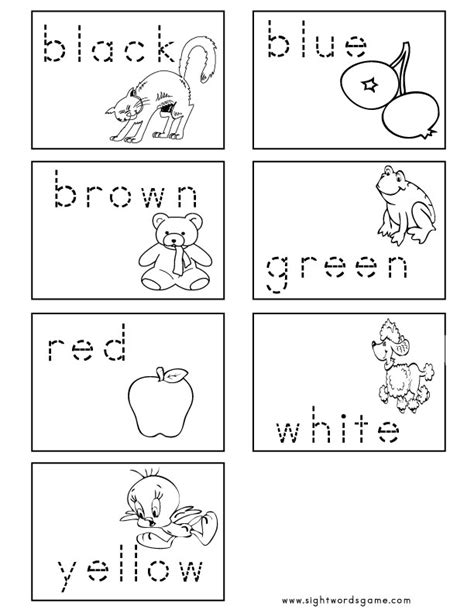 color worksheets color worksheets