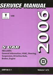 service and repair manuals 2006 pontiac vibe parking system 2006 pontiac vibe factory service repair manual 2 volume set