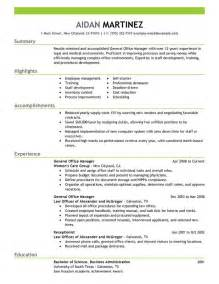 general manager resume sample my perfect resume