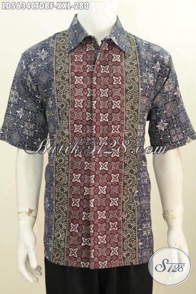 Hem Batik Dolbi hem batik istimewa untuk pria gemuk baju batik lengan pendek furing motif bagus proses cap
