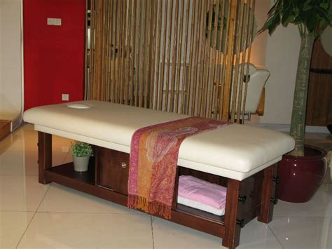 massaging bed solid wood massage bed spa massage bed from china