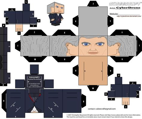 Cubee Papercraft - cubee the 12th doctor by cyberdrone on deviantart