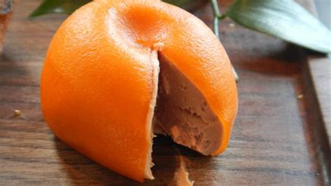 Monge Fruit Duck And Orange 100 G fruit cut to show it is actualle pate picture of