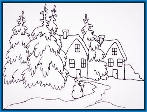 imagenes de paisajes faciles para colorear imagenes de paisajes faciles de pintar archivos dibujos