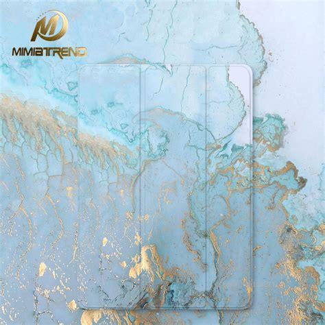 mimiatrend blue marble grain pu case  ipad pro  air