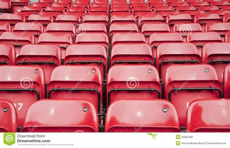 repetitive pattern of football stadium seating royalty