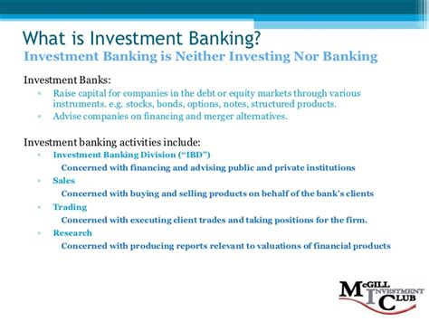 investment banking workflow investment banking 101 f08