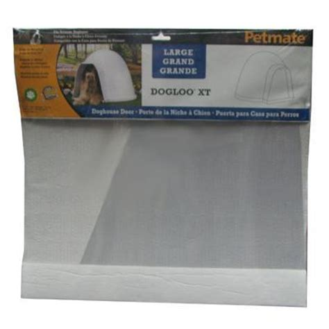 igloo dog house door flap frosted plastic door flap for large dogloo and dogloo xt dog doors at arcata pet