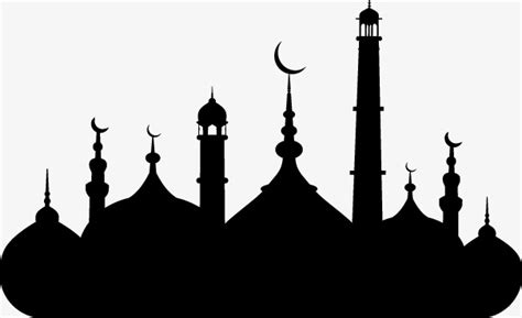 Cool Technology by Islamic Mosque Silhouette Vector Material Islam Mosque
