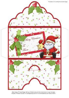 gift card holder template word money wallet envelope santa cup483840
