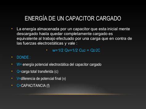 que hace un capacitor cargado capacitores en serie y paralelo energ 237 a de un capacitor cargado