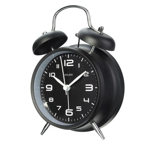 digoo 4 bell alarm clock retro metal loud clocks led light battery ebay
