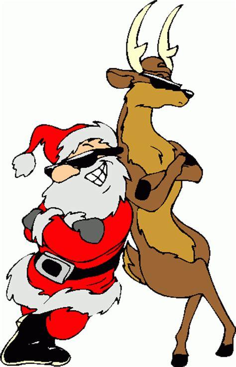 santa  reindeer clipart christmas image