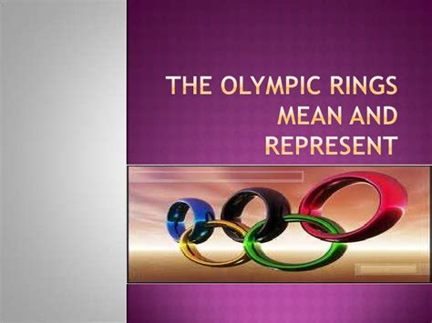 what are the five colors of the olympic rings the olympic rings and represent