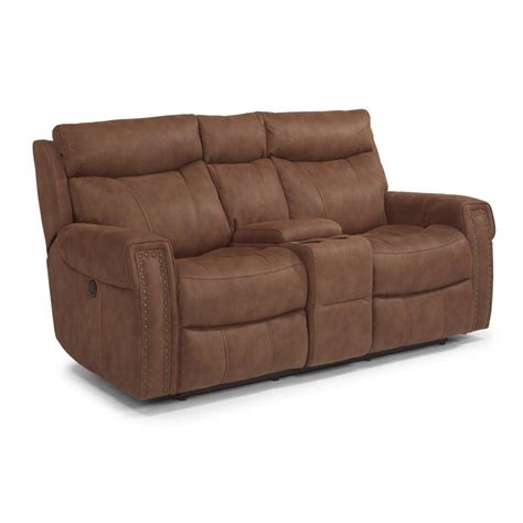 fabric reclining loveseat with console flexsteel 1450 604p wyatt fabric power reclining loveseat
