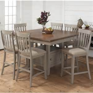 jofran 7 piece counter height dining set in pottersville