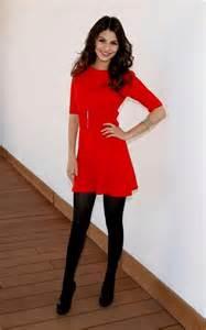 red dress black tights naf dresses